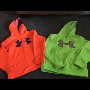 Youth XS & Small UNDER ARMOUR hoodies